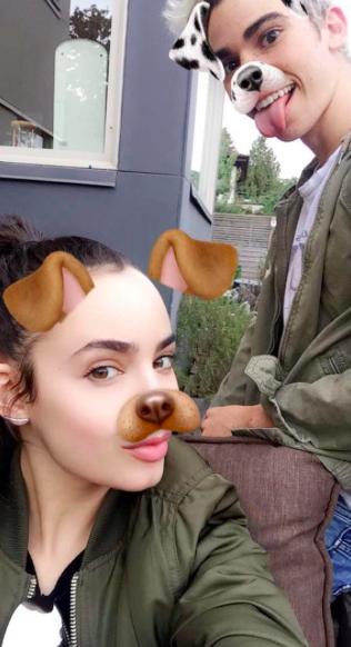 Sofia Carson // Snapchat