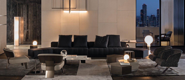 Sofa Freeman Lounge By Minotti Design Rodolfo Dordoni  # Neat Muebles Merida