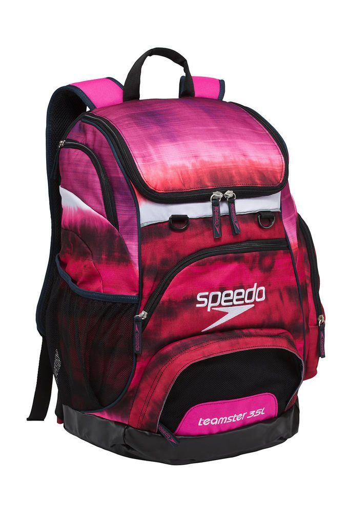 Speedo Backpack Bag Tie Large Swim Liter Teamster Pink New 35 L Dye dexBorC