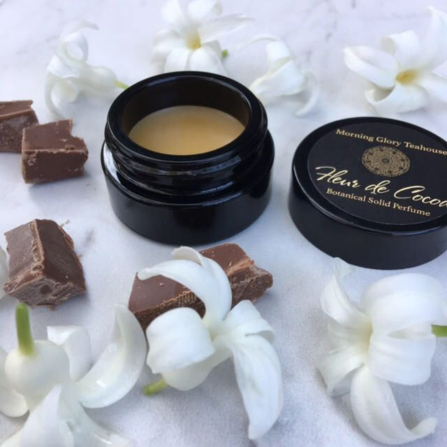 A personal favorite from my Etsy shop https://www.etsy.com/listing/493726917/fleur-de-cocoa-botanical-solid-perfume