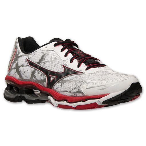 37fff6c136b4 Men's Mizuno Wave Creation 16 Running Shoes   Finish Line   White/Black/Chinese  Red