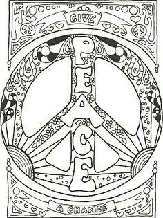Pin by Stina on Hippie Coloring Pages | Coloring pages, Adult ...