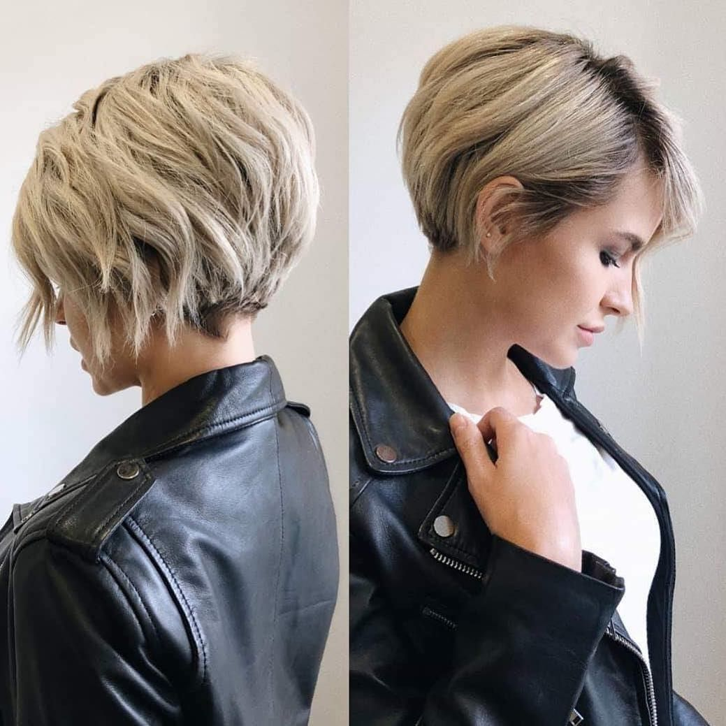 Short Hairstyles For Thick Hair Women Short Haircut Ideas 2019 Short Hairstyles For Thick Hair Short Hair Trends Thick Hair Styles
