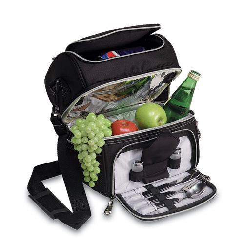You get more than just an insulated lunch box with the Pranzo; you also get those necessary items that we sometimes forget to pack. Never be frustrated at lunch again when you have utensils, a napkin and even salt and pepper at your disposal! Black ripstop polyester makes up this sturdy lunch box, with a nylon interior for extra durability. Mesh pockets on the side leave room for little things you want to keep separate, while both a soft-grip handle and an adjustable shoulder strap...$39.95
