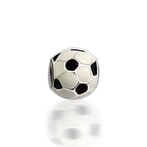 9fcaba777dd1 Add Soccer 925 Sterling Silver Sports Bead to your European story bracelet  today!