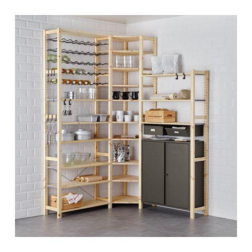 Ikea Ivar Schrank ivar 3 elem böden schrank kiefer grau pine shelves and spaces