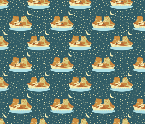 The Owl and The Pussycat fabric by cynthia_arre on Spoonflower - custom fabric