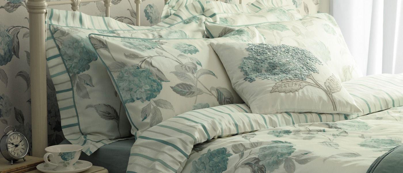 Hydrangea Duck Egg Cotton Pillowcase