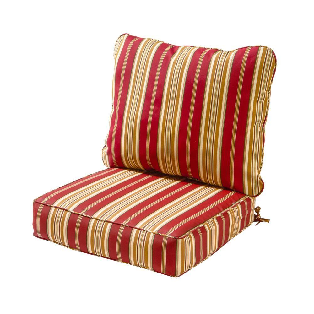 Greendale Home Fashions Roma Stripe 2 Piece Deep Seating Outdoor