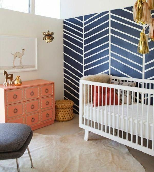Babyzimmer einrichten deko ideen wandgestaltung kommode - wandgestaltung babyzimmer