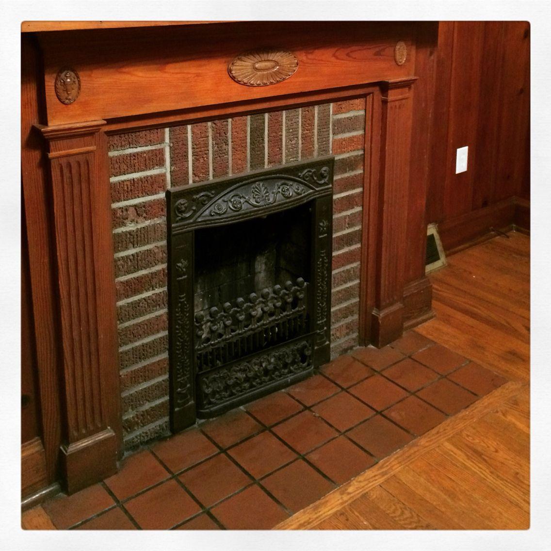 Beautiful Original 1940's Fireplace. #fireplace #1940s