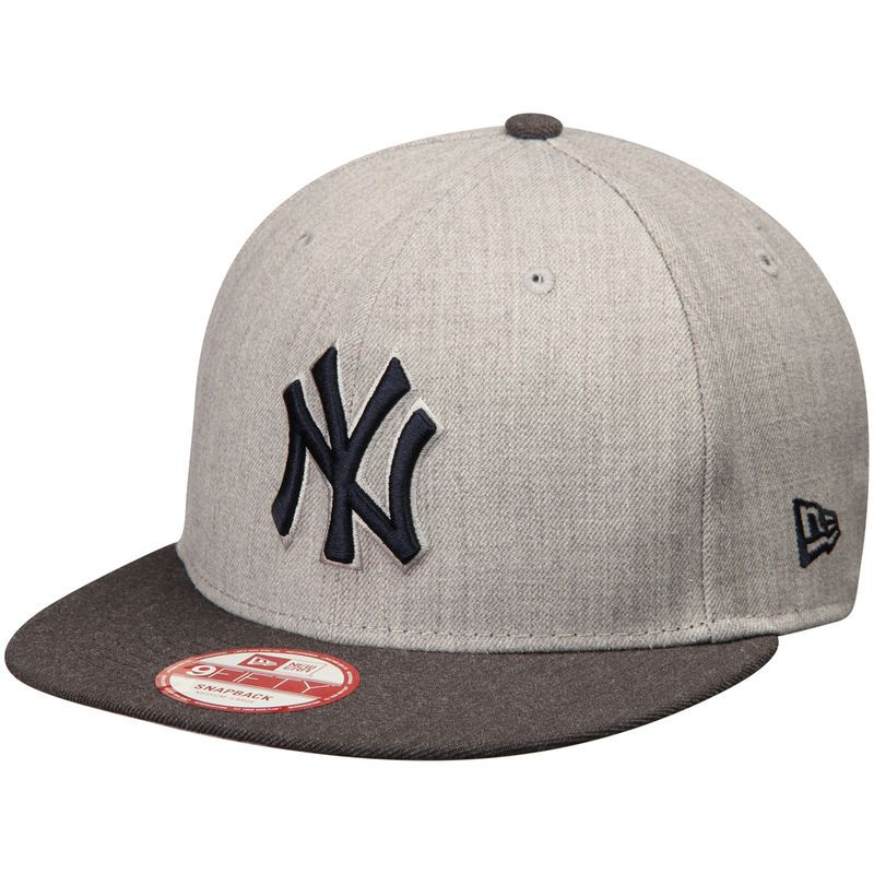 New York Yankees New Era Action 9FIFTY Snapback Adjustable Hat - Heathered  Gray Charcoal 99cee7f36da