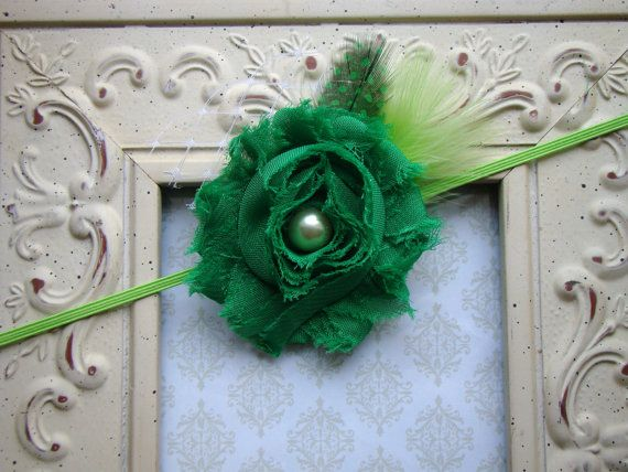 St Patrick's Day Green Rosette Baby by AvasTutuCuteBoutique, $9.50