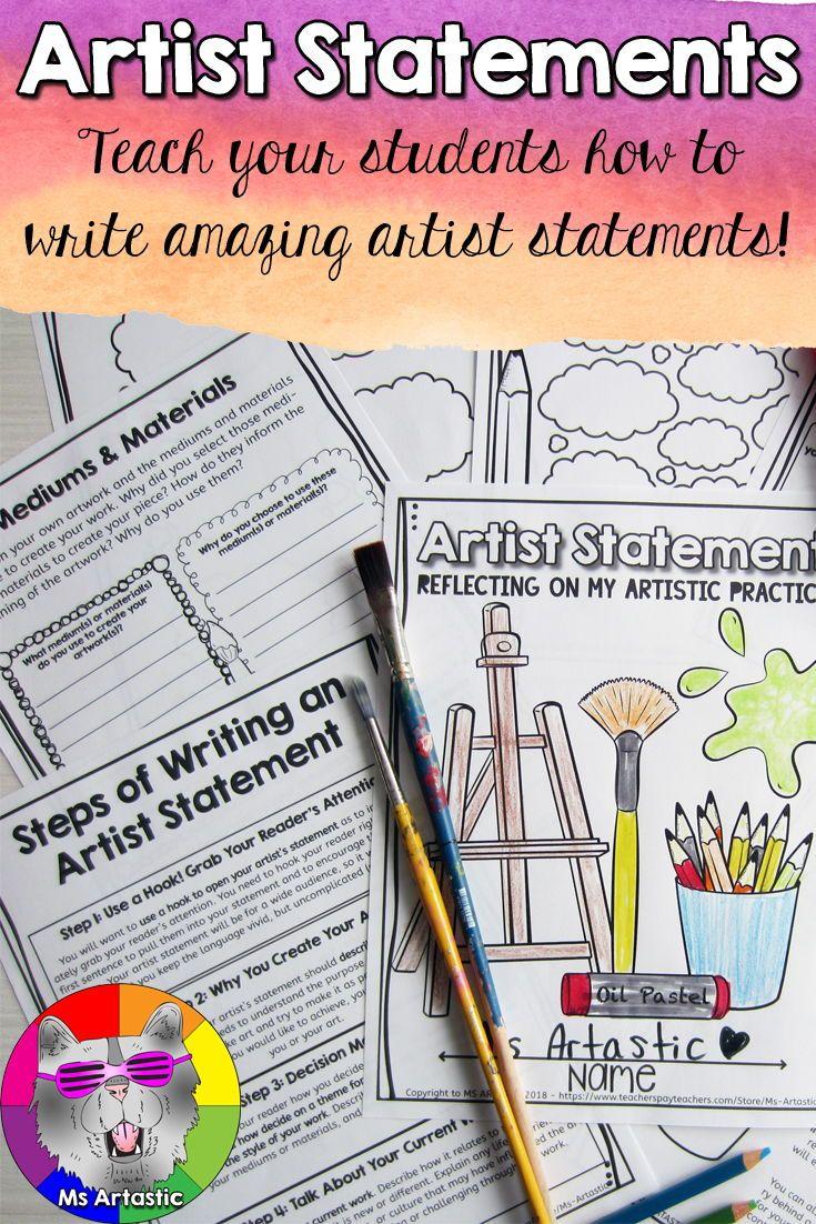 Artist statements teach students to write artist