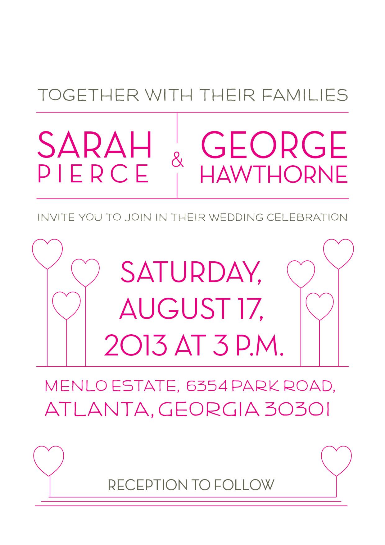 Sample Family Wedding Invitation Wikihow Wedding Ideas