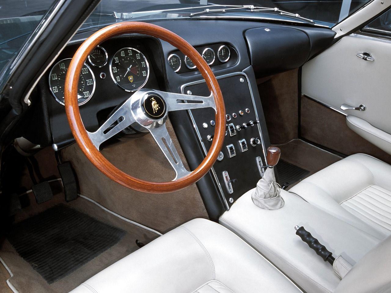 1963 Lamborghini 350 Gtv Lamborghini Car Interior Classic Cars