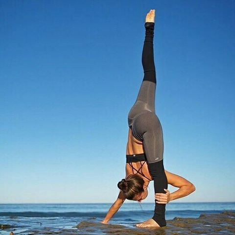 challenge your friends with this yoga pose