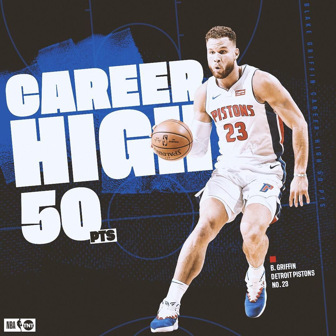 Nba On Tnt On Instagram Blake Griffin Made A Statement Tonight Blake Griffin Basketball Funny Nba