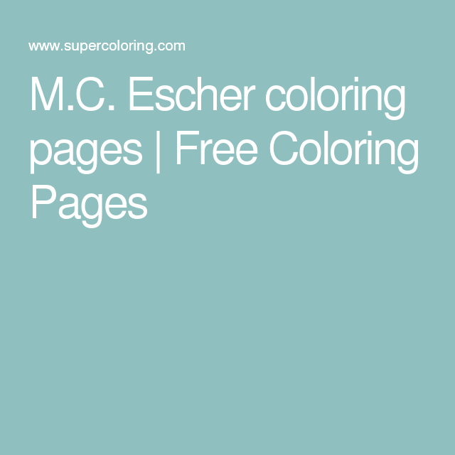 M.C. Escher coloring pages | Free Coloring Pages