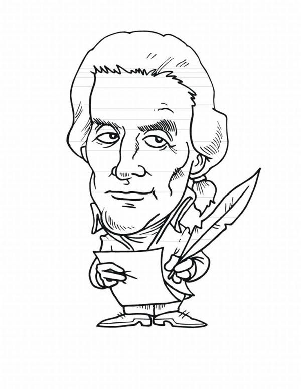 A Caricature of Thomas Jefferson for Presidents Day