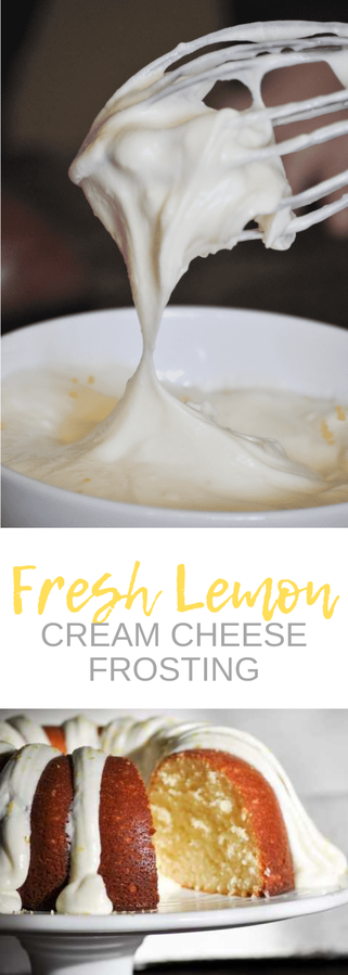 Fresh Squeezed Lemon Cream Cheese Frosting - cloverlaneblog.com