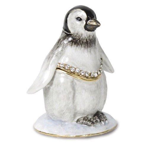 Fairy Penguin Beautiful Jewelled /& Enamlled Trinket Box or Figurine