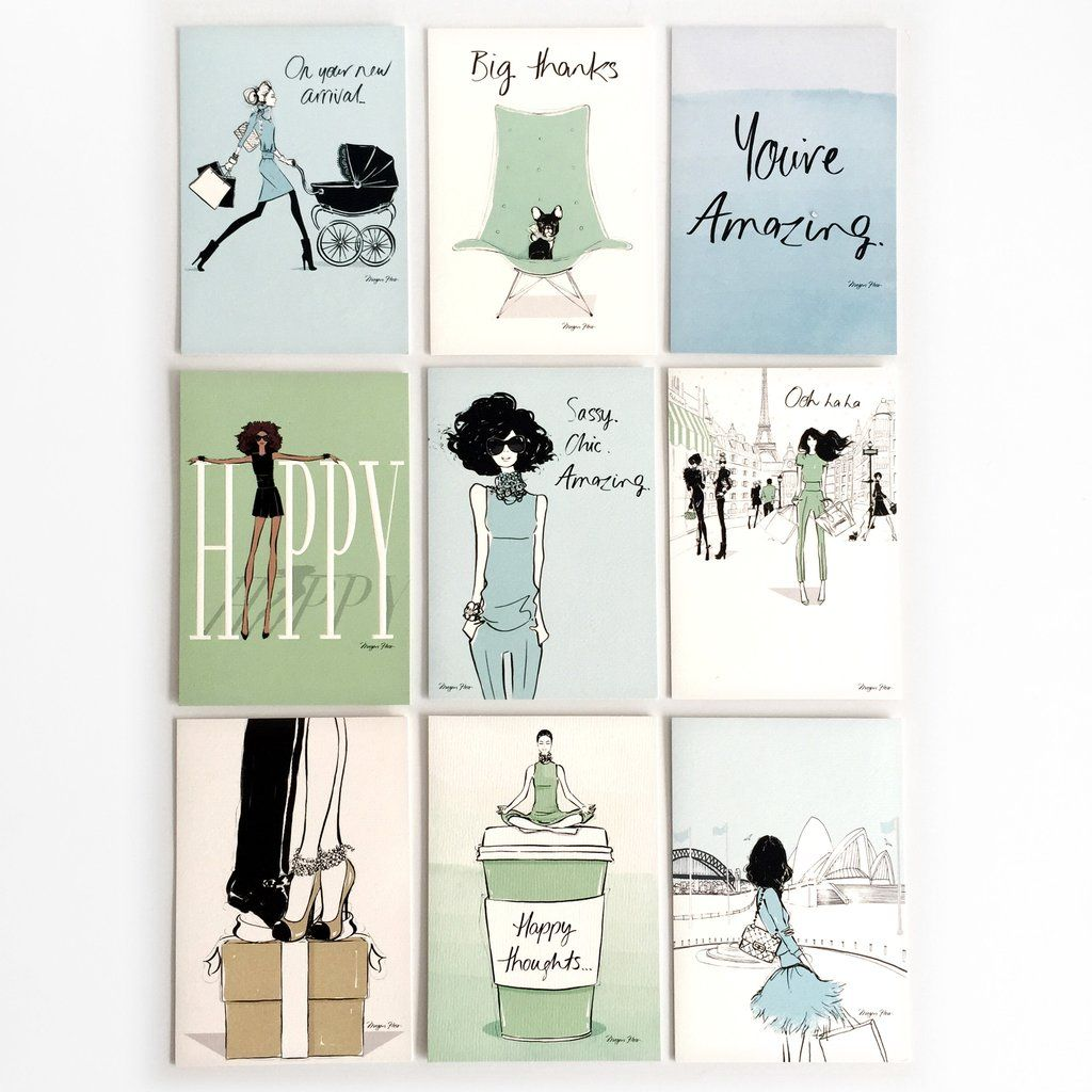 Megan Hess x Hallmark Greeting Card Collection Blue – Birthday Card Collection