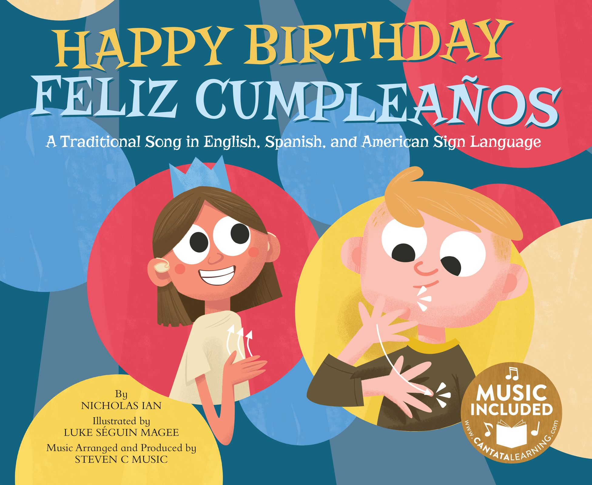 A classic birthday song sung in English, Spanish, and