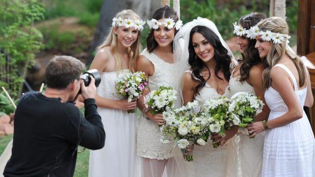 Daniel Bryan And Brie Bella S Wedding Photos Bella Wedding Brie Bella Wedding Bella Wedding Dress