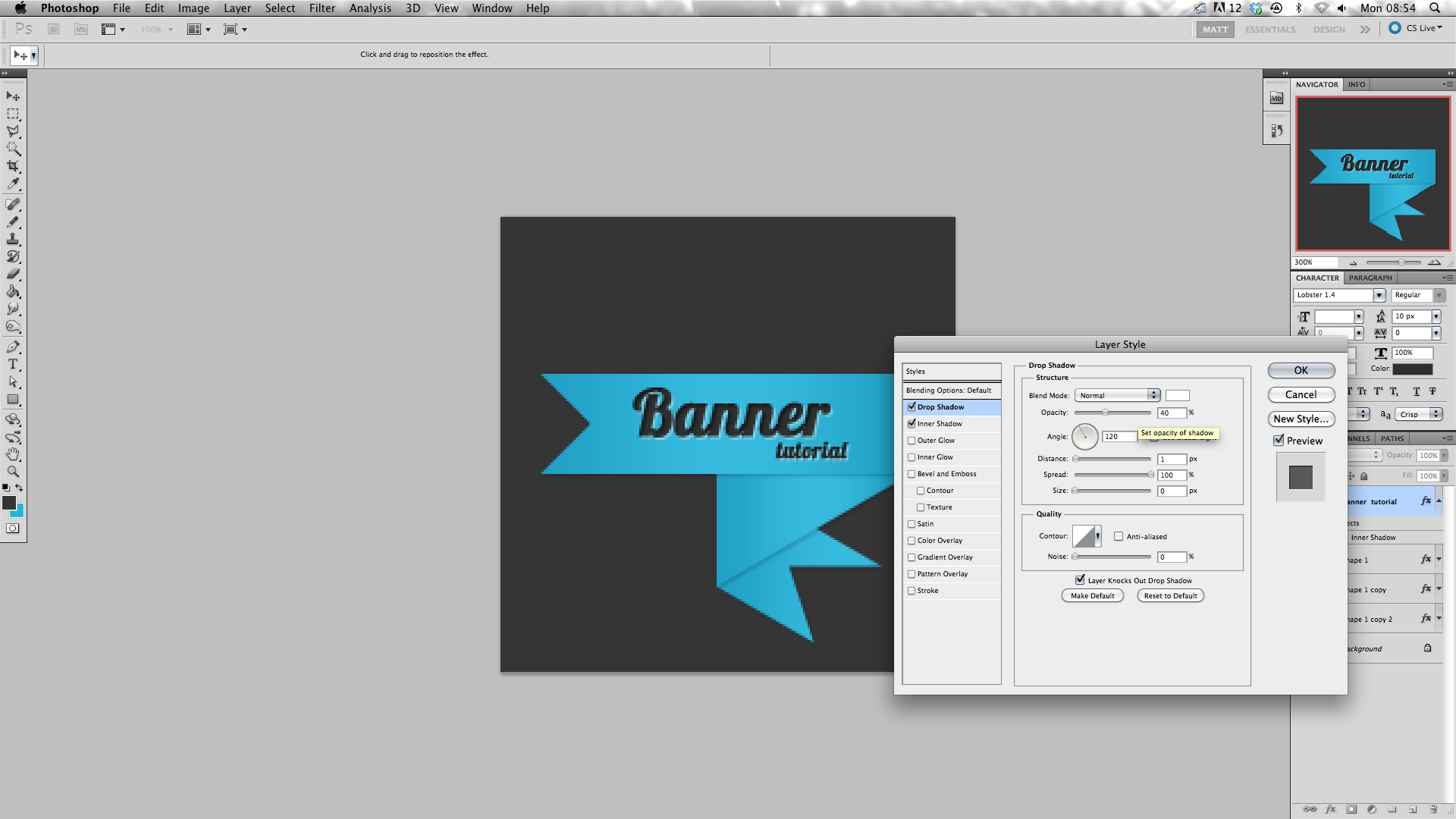 How To Make A Ribbon Banner In Photoshop Craft Photoshop Pinterest