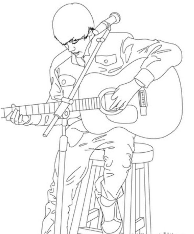 Guitarist Colouring Pages | Education/games | Pinterest