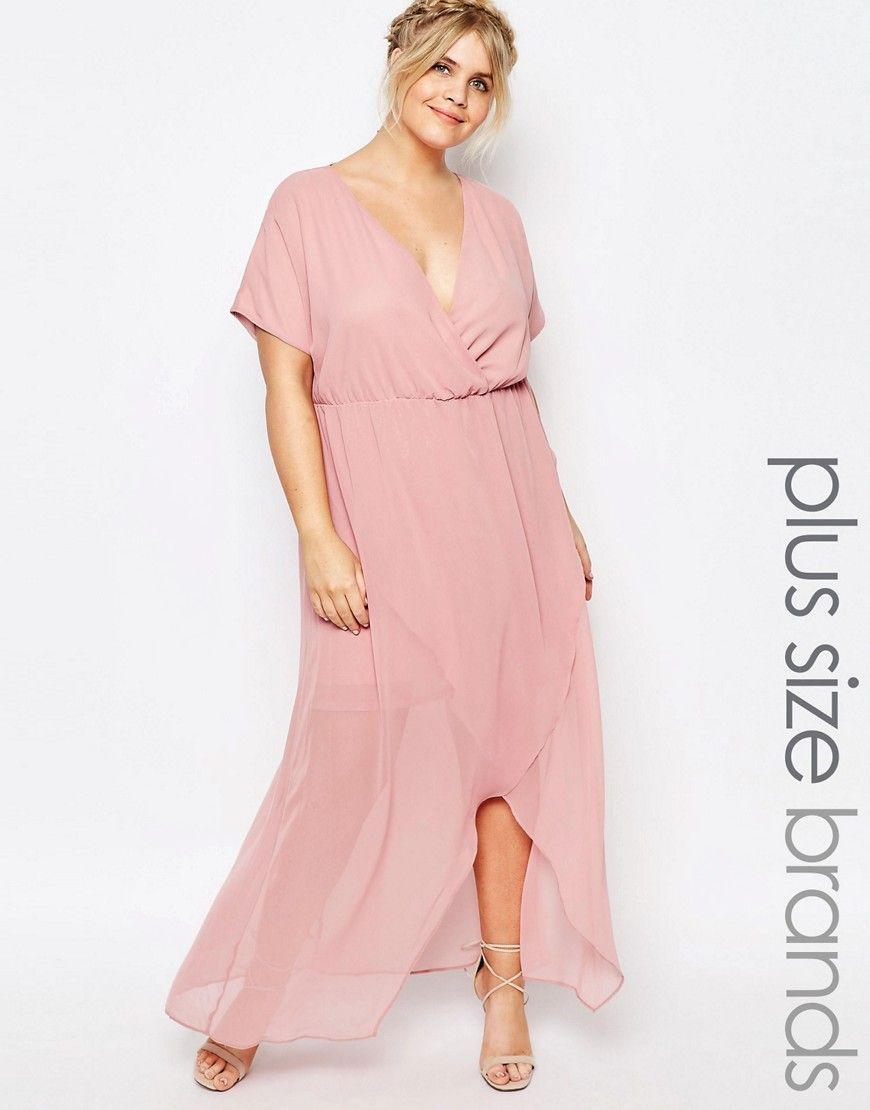 Truly You Wrap Maxi Dress With Ruffle Detail in Plus Size | MAXI ...