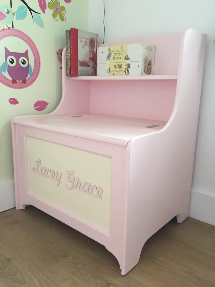 Handmade Personalised Toy Box With Built In Bookshelf