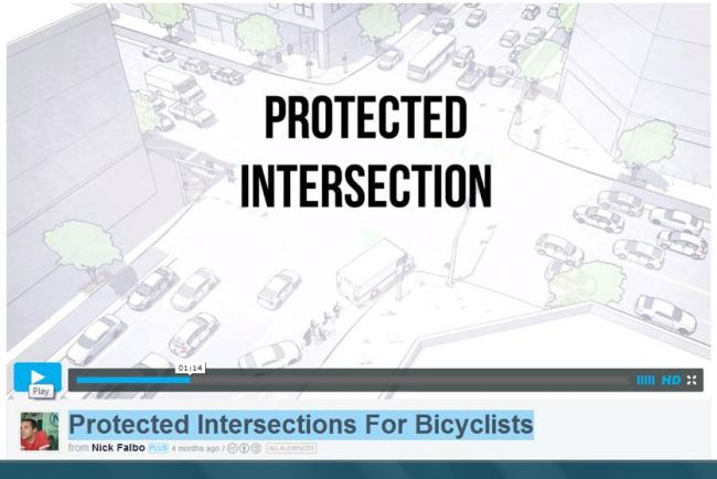 Check out this video which proposes a design for safe urban bicycle infrastructure. What a wonderful world it would be!