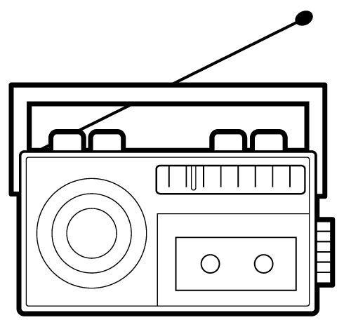 Radio Antiguo Dibujo Buscar Con Google Medios De