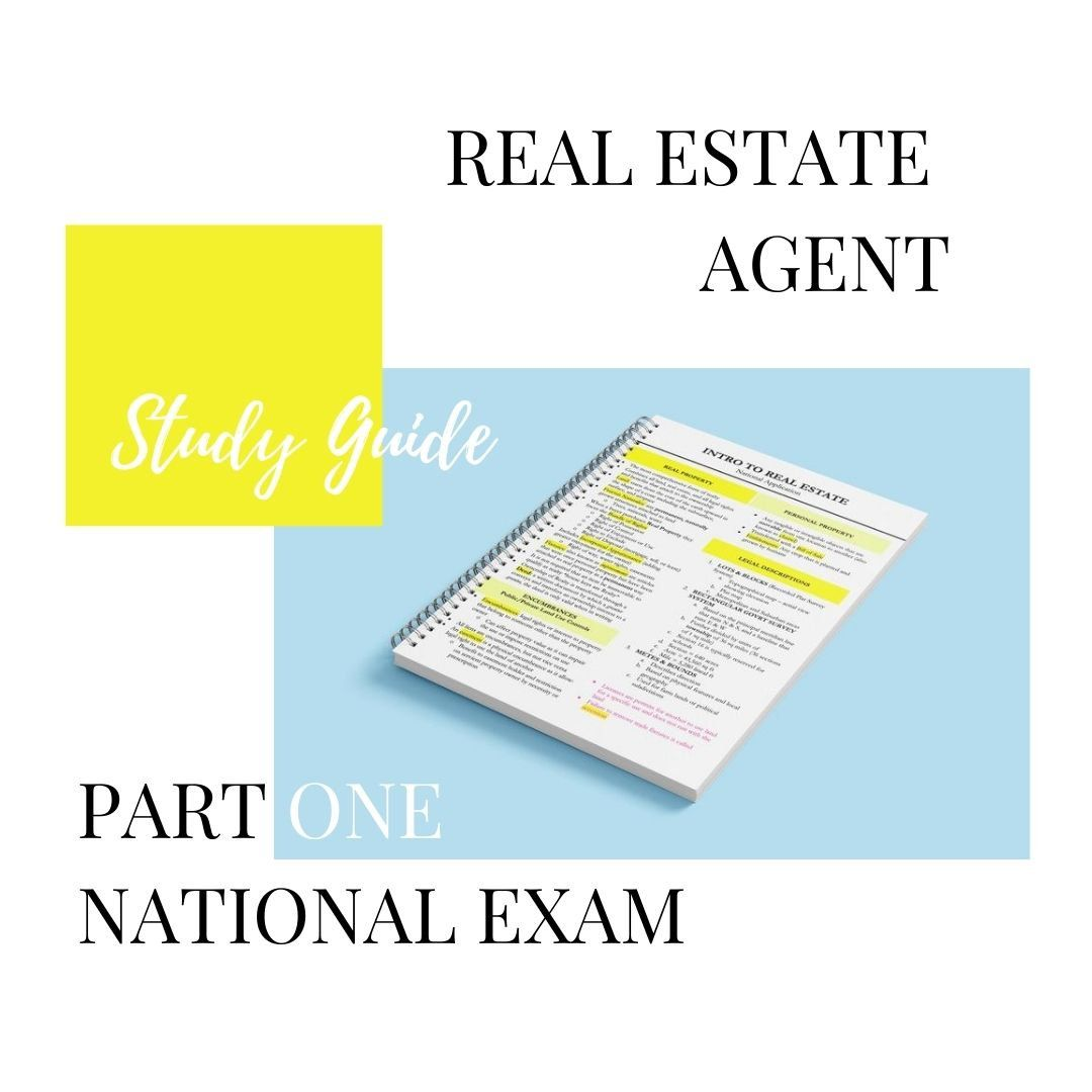 Real Estate Agent Study Guide Real Estate Study Guide Real Etsy Real Estate Exam Listing Presentation Real Estate Real Estate Guide