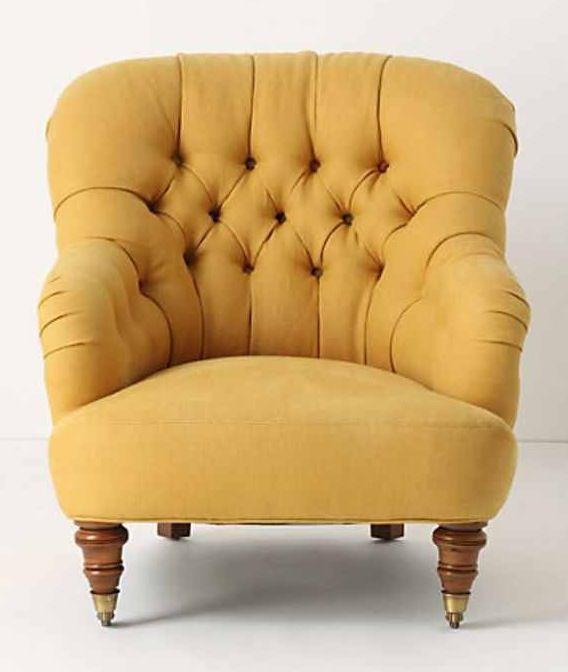 Small Mustard Chair.