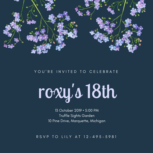 Nice FREE 18th Birthday Invitations Wording