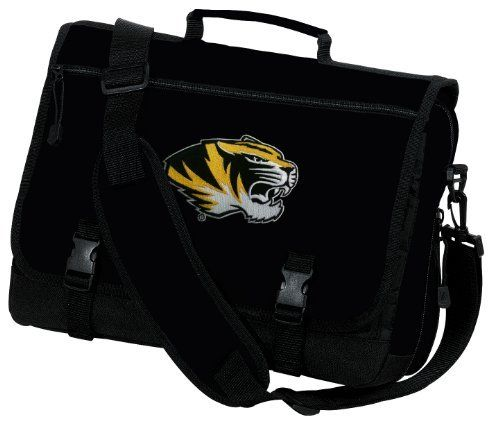 Mizzou Messenger Bags NCAA University of Missouri Tigers School Bag or Briefcase Laptop Bags - Best Unique GIFT IDEA for Men Man Ladies Him Her Students Alumni Women or a Child by Broad Bay. $36.99. Perfect for commuters or students, our sturdy deluxe Mizzou messenger bag features a large, expandable zippered main compartment. Fold-over flap has a wide zippered pocket and secures with two adjustable buckle straps. A reinforced, adjustable padded carrying strap...
