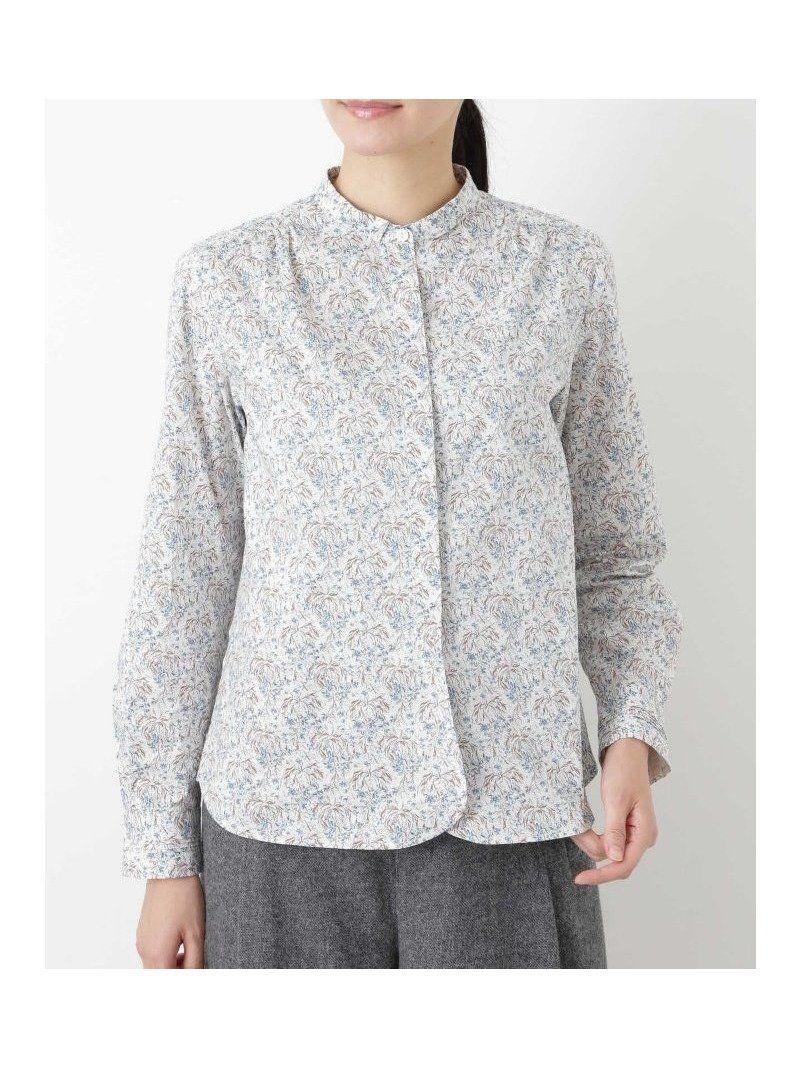 45a731f7f0e 【ヒューマンウーマン/HUMAN WOMAN】のリバティプリントシャツブラウス レディースファッション・服