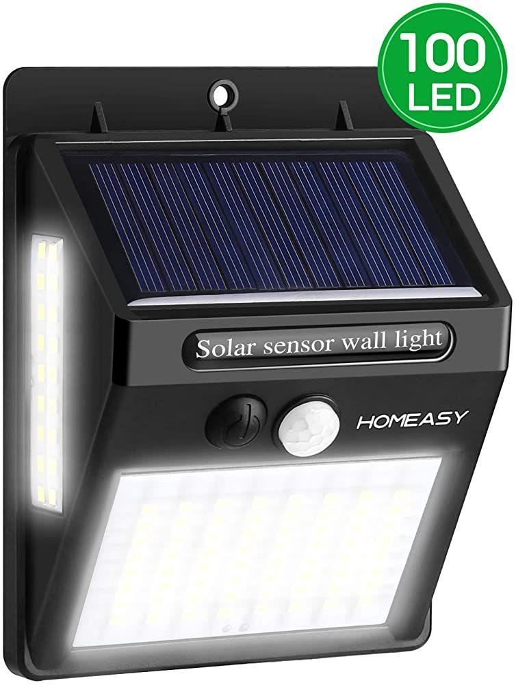 100LED Solarleuchte Bewegungsmelder Wasserdichte Wegbeleuchtung für Außenbereich