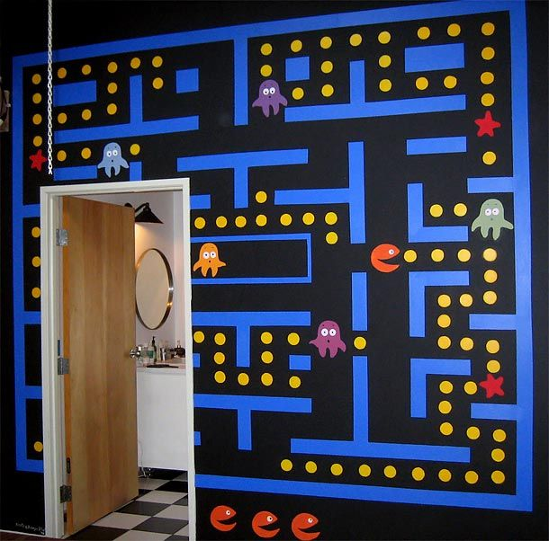 D co pacman deco geek en 2019 game room decor video game rooms et boys game room for Decoration maison games