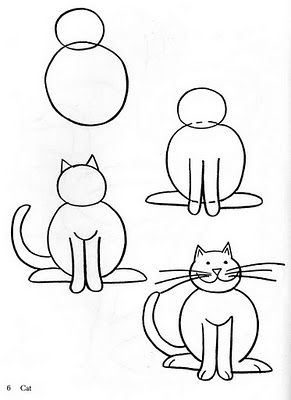 How To Draw Animals Art Draw Cats Dogs Howto S Pinterest