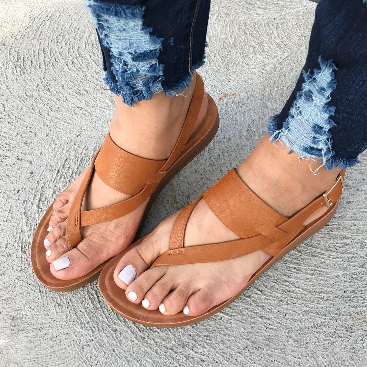 Cushion Sole Buckle Sandal In 2019 Shoes Sandals Shoes Flip