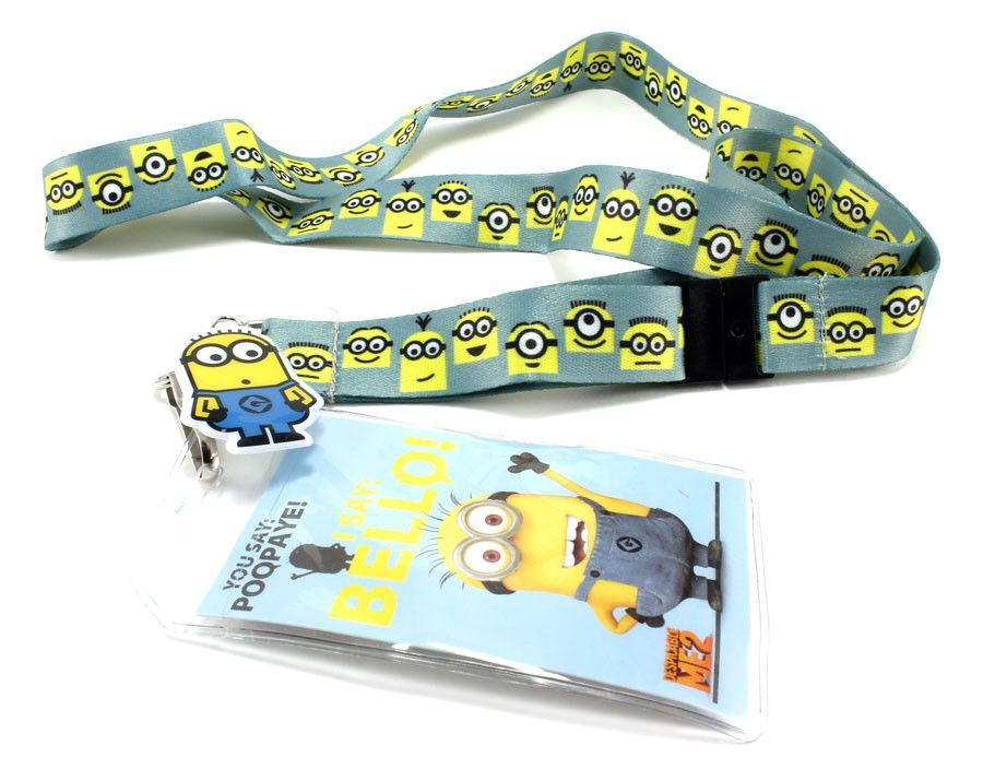 Despicable Me Minion Made Lanyard and Charm