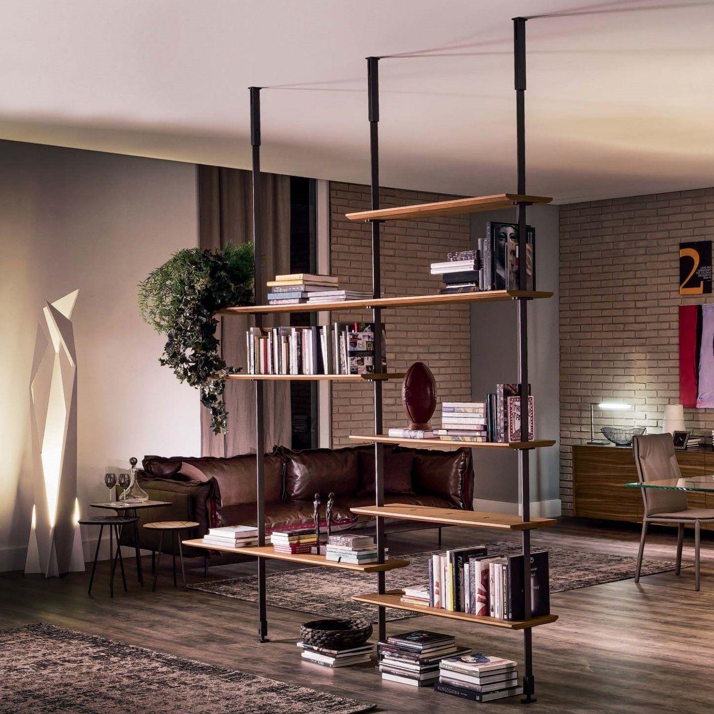 Divisori In Legno Per Interni libreria di design in legno e acciaio airport (con immagini