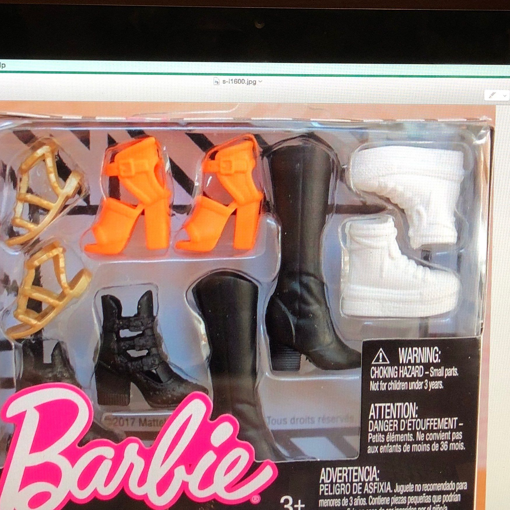 Barbie Fashion Accessory Packs lot of 3 Fashionista