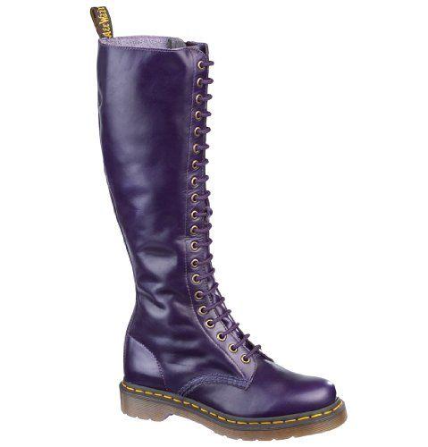 6022718b777bf Dr Martens 1B60 12270500 Womens Knee-Length Boots Potent Purple UK4 Dr.  Martens