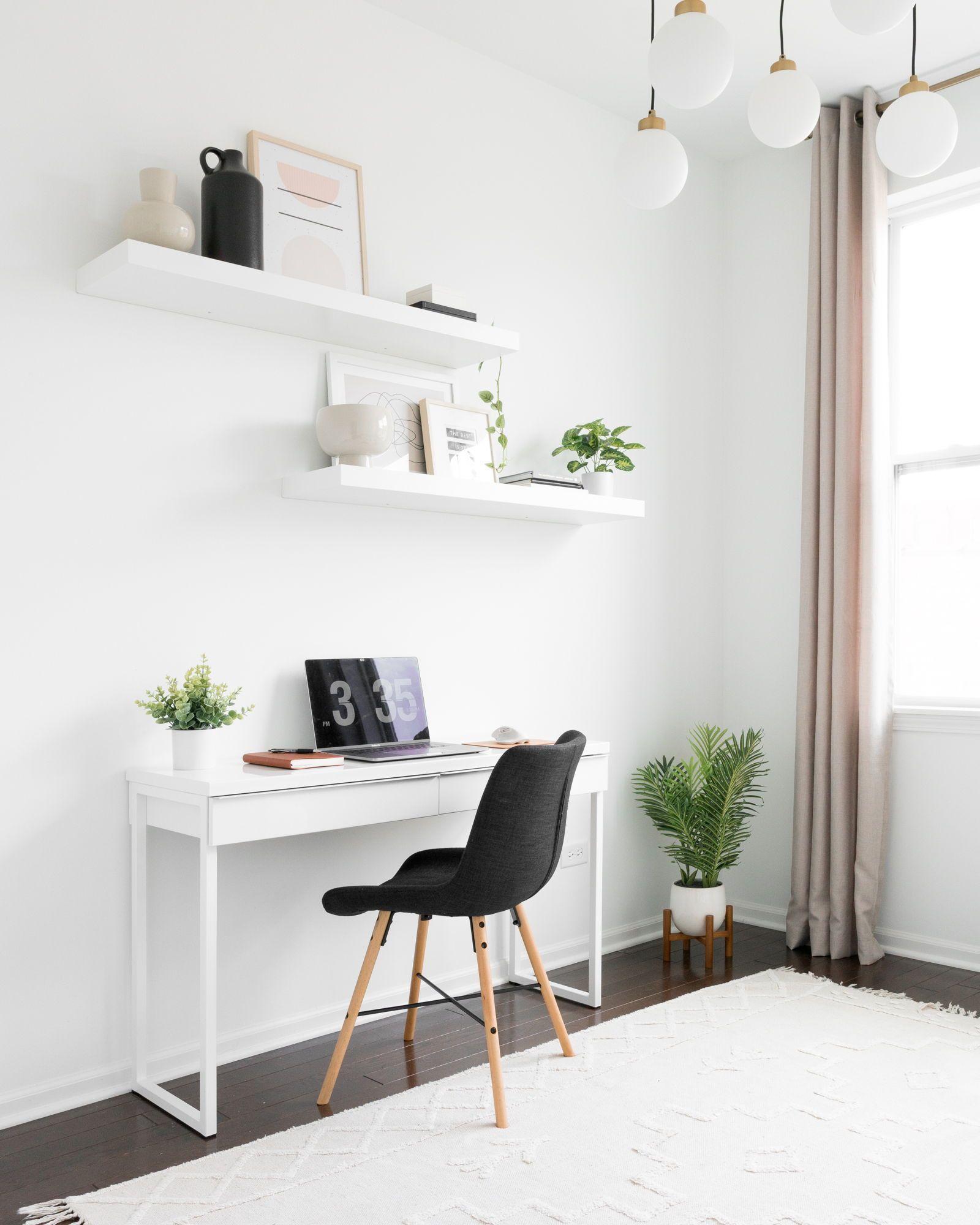 18 Modern Desks For A Scandinavian Home Office Desks Home Modern Office Scandinavian In 2020 Modern Home Office Ikea Home Office Minimalist Office Desk