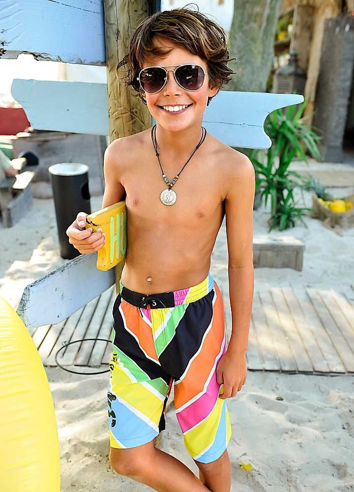 Cute teen boxer boy